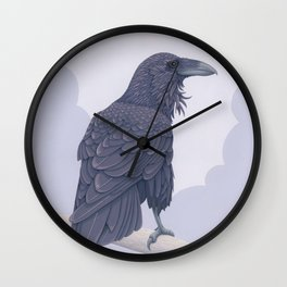 Common Raven Wall Clock