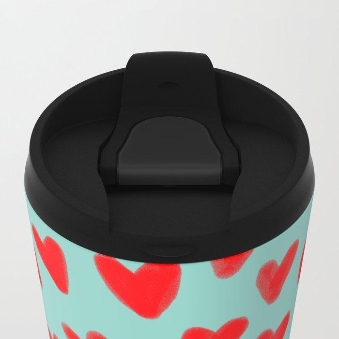 Mackenzie - Orange Tabby Cute Valentines Day Kitten Girly Retro Cat Art cell phone Metal Travel Mug