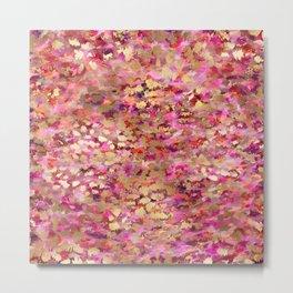 pink and gold tiger Metal Print