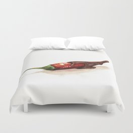 Chocolate Covered Pepper Duvet Cover