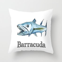 B is for Barracuda Throw Pillow