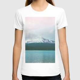 Mountain Lake - Nature Photography - Turquoise Teal Pink T-shirt