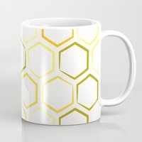 honeycomb Mugs featuring Honeycomb by Thomas Knapp