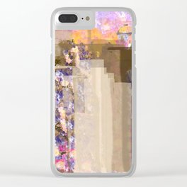 Floral Abstract City Clear iPhone Case