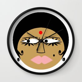 bbnyc: indian girl Wall Clock