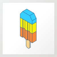 popsicle Art Prints featuring Popsicle by Haitham Almayman
