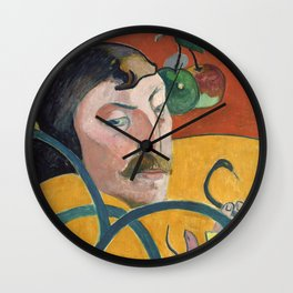 Self-Portrait with Halo and Snake by Paul Gauguin Wall Clock