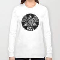 alchemy Long Sleeve T-shirts featuring Altered Alchemy by Christina Rivera-Scott