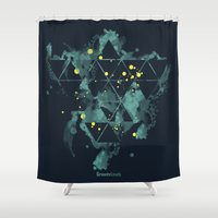 "edm Shower Curtains featuring Gravity Levels ""Space Bird"" by Sitchko Igor"