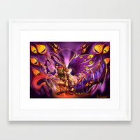 warcraft Framed Art Prints featuring Corruption  by LycaonCreations