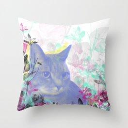 Lazy Kitty Throw Pillow