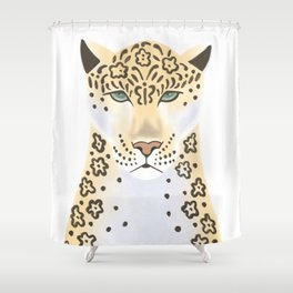 Jaguar portrait Shower Curtain