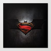 superman Canvas Prints featuring Superman by neutrone