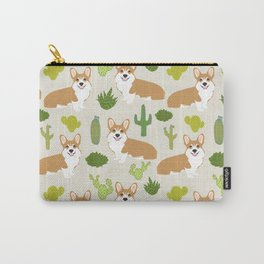 Welsh Corgi cactus southwest desert dog breed corgis gifts Carry-All Pouch