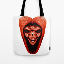 Red Haired Skull Tote Bag