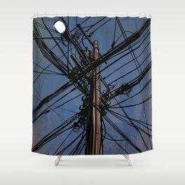 wires 02 Shower Curtain