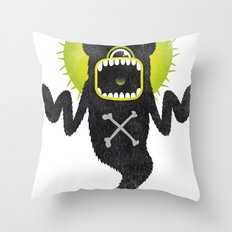 SALVAJEANIMAL ghost Throw Pillow