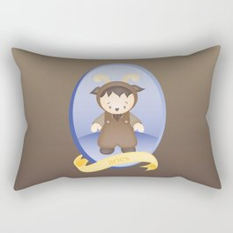 Aries Child Zodiac Sign Illustration Rectangular Pillow