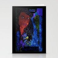 aquarius Stationery Cards featuring Aquarius by Laura Jean