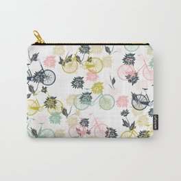 Cute Bicycle and Flowers Carry-All Pouch