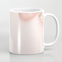 Beautiful flat lay with trendy accessories Coffee Mug