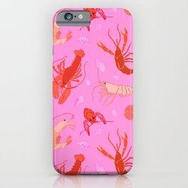 Dance of the Crustaceans in Conch Pink iPhone Case