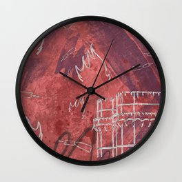A la luna de Valencia  - Red Wall Clock