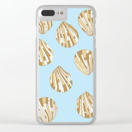 Scallop Shells Clear iPhone Case