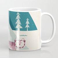 adventure Mugs featuring Adventure by Jenny Tiffany