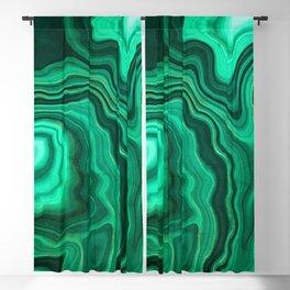 Malachite Texture 10 Blackout Curtain