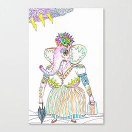 Elephant lady Canvas Print