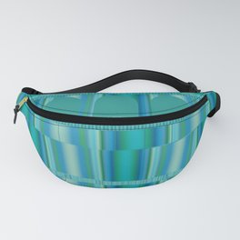 Blue Green Arches and Stripes Pattern Fanny Pack