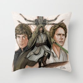 Old Man Star Fighter Throw Pillow