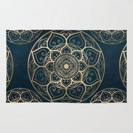 Mandala Night Blue Rug