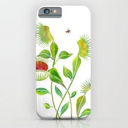 Venus Fly Trap Watercolor iPhone Case