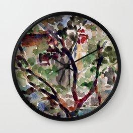 Brooklyn Brownstones Wall Clock