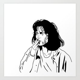 Veronica, you look like hell -- Black and White Art Print