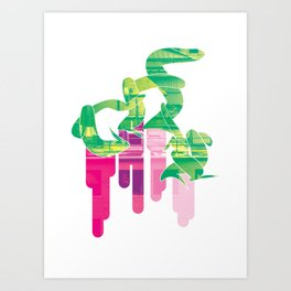 Twist Of Lime Art Print
