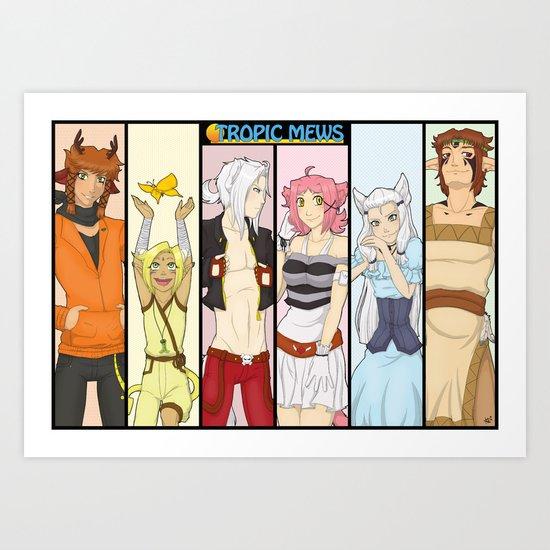 Tropic Mews Poster Art Print