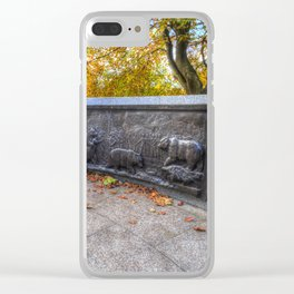 Wojtek The Soldier Bear Memorial Edinburgh Clear iPhone Case