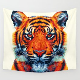 Tiger - Colorful Animals Wall Tapestry