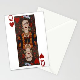 Frida Kahlo, Queen of Hearts II Stationery Cards