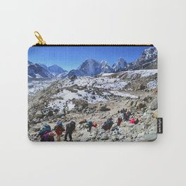 Trekking in Himalaya. Group of hikers  with backpacks   on the trek in Himalayas, trip  to the base  Carry-All Pouch