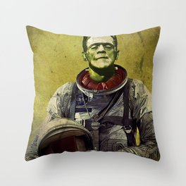 Monsters In History-Space Race Throw Pillow