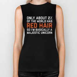 Red Hair Funny Quote Biker Tank