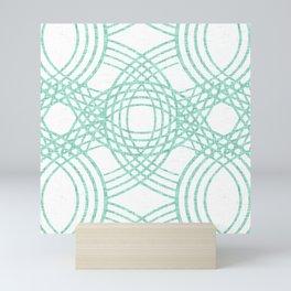 Celtic Knot pattern White Mini Art Print