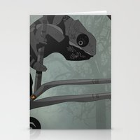 chameleon Stationery Cards featuring Chameleon by Andrew Formosa