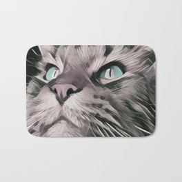 dream cat, chat, fantastic, magic, action Bath Mat