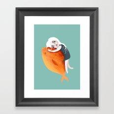 The Fish Girl Framed Art Print