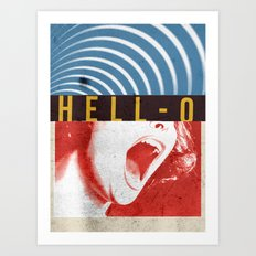 Hell-O Art Print